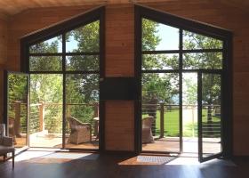 Алюминиевые окна с дверью